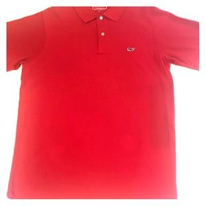 Men's Red Vineyard Vines collared polo shirt